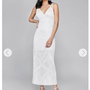 NEW Guess Marciano Fiona white maxi slip dress XS
